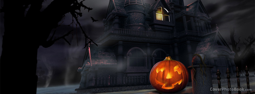 Free Halloween Pictures For Facebook.Halloween House Of Lost Souls Facebook Cover Holidays