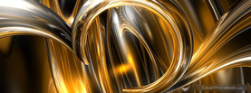 Abstract Gold Black Metal, Free Facebook Timeline Profile Cover, Abstract