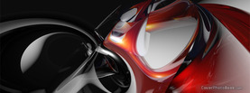 Abstract Red White Metal, Free Facebook Timeline Profile Cover, Abstract