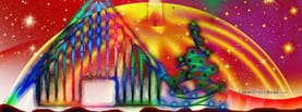 Christmas Drawing, Free Facebook Timeline Profile Cover, Abstract