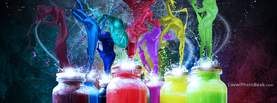 Colorful Bottles People, Free Facebook Timeline Profile Cover, Abstract