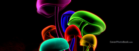 Colorful Mushrooms, Free Facebook Timeline Profile Cover, Abstract