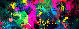 Colorful Paint Splatter, Free Facebook Timeline Profile Cover, Abstract