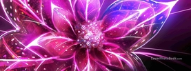 Light Flower Digital Art, Free Facebook Timeline Profile Cover, Abstract
