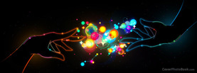 Magic Lights Hands Black, Free Facebook Timeline Profile Cover, Abstract