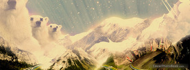 Polar Bear Mountains, Free Facebook Timeline Profile Cover, Abstract