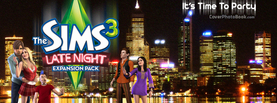 Sims Late Night It's Time to Party, Free Facebook Timeline Profile Cover, Brands