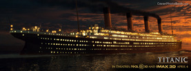 Titanic 3D Unsinkable Ship Night, Free Facebook Timeline Profile Cover, Brands