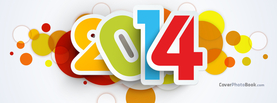 2014 Colorful Circles, Free Facebook Timeline Profile Cover, Celebration