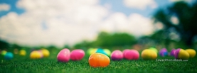 Colorful Easter Eggs on Grass, Free Facebook Timeline Profile Cover, Celebration