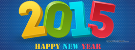 Happy New Year 2015, Free Facebook Timeline Profile Cover, Celebration
