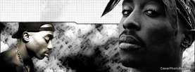 2Pac Black White, Free Facebook Timeline Profile Cover, Celebrity