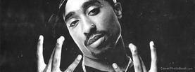 2Pac Westside Black White, Free Facebook Timeline Profile Cover, Celebrity
