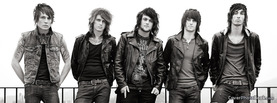 Asking Alexandria Black White, Free Facebook Timeline Profile Cover, Celebrity