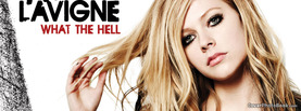 Avril Lavigne What the Hell, Free Facebook Timeline Profile Cover, Celebrity