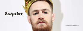 Conor McGregor Esquire Gold Crown, Free Facebook Timeline Profile Cover, Celebrity