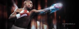 Floyd Mayweather Blue Fire Punch, Free Facebook Timeline Profile Cover, Celebrity
