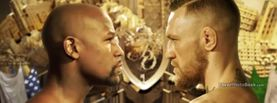 Floyd Mayweather Jr Conor McGregor Gold Stare, Free Facebook Timeline Profile Cover, Celebrity