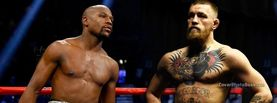 Floyd Mayweather Jr v Conor McGregor, Free Facebook Timeline Profile Cover, Celebrity