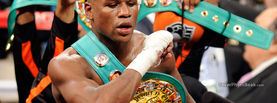 Floyd Mayweather Jr with Belts, Free Facebook Timeline Profile Cover, Celebrity