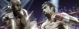Floyd Mayweather vs Manny Pacquiao Cartoon, Free Facebook Timeline Profile Cover, Celebrity