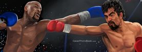 Floyd Mayweather vs Manny Pacquiao Fighting Illustration, Free Facebook Timeline Profile Cover, Celebrity