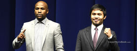 Floyd Mayweather vs Manny Pacquiao Standing in Suits, Free Facebook Timeline Profile Cover, Celebrity