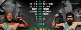 Floyd Mayweather vs Manny Pacquiao Tale of the Tape, Free Facebook Timeline Profile Cover, Celebrity