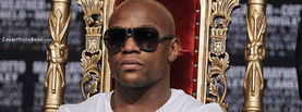 Floyd Money Mayweather in Gold Royal Chair Shades, Free Facebook Timeline Profile Cover, Celebrity