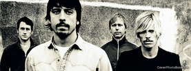 Foo Fighters Black White, Free Facebook Timeline Profile Cover, Celebrity