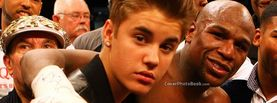 Justin Bieber with Floyd Mayweather Boxing Ring, Free Facebook Timeline Profile Cover, Celebrity