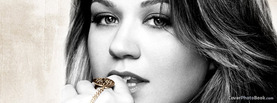 Kelly Clarkson Black White, Free Facebook Timeline Profile Cover, Celebrity