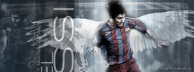 Lionel Messi Angel Wings, Free Facebook Timeline Profile Cover, Celebrity