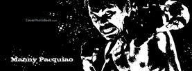 Manny Pacquiao Black White Silhouette, Free Facebook Timeline Profile Cover, Celebrity