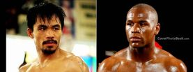 Manny Pacquiao vs Floyd Mayweather Jr Young, Free Facebook Timeline Profile Cover, Celebrity