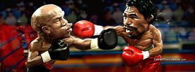 Mayweather vs Pacquiao Caricature Illustration, Free Facebook Timeline Profile Cover, Celebrity