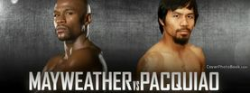 Mayweather vs Pacquiao Grey Background, Free Facebook Timeline Profile Cover, Celebrity