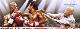 Pacquiao Punching Mayweather - Fight and Stop Talking, Free Facebook Timeline Profile Cover, Celebrity