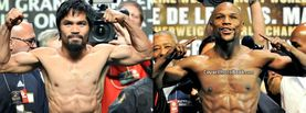 Pacquiao vs Mayweather Flexing, Free Facebook Timeline Profile Cover, Celebrity
