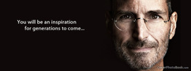 Steve Jobs Inspiration Generations, Free Facebook Timeline Profile Cover, Celebrity