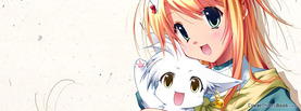 Anime Girl Cat, Free Facebook Timeline Profile Cover, Characters