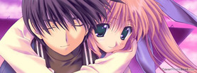 Anime Love Couple Hug, Free Facebook Timeline Profile Cover, Characters
