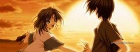Anime Sunset Love, Free Facebook Timeline Profile Cover, Characters