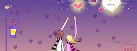 Girly Hearts Couple, Free Facebook Timeline Profile Cover, Characters