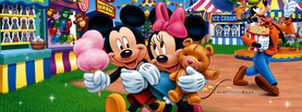 Going to the Carnival Mickey and Minnie, Free Facebook Timeline Profile Cover, Characters