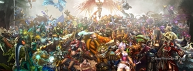 League of Legends Crowd, Free Facebook Timeline Profile Cover, Characters
