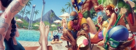 League of Legends Pool Party, Free Facebook Timeline Profile Cover, Characters