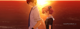 Love Anime Manga Sunset, Free Facebook Timeline Profile Cover, Characters