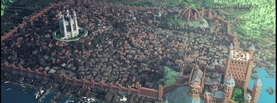 Minecraft Big City, Free Facebook Timeline Profile Cover, Characters