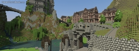 Minecraft Buildings, Free Facebook Timeline Profile Cover, Characters
